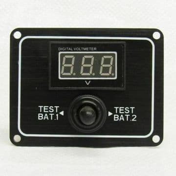 12V WATER RESISTANT 2 WAY DIGITAL BATTERY TEST SWITCH PANEL GAUGE ROCKER boat